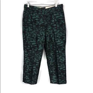 J CREW SILK CROPPED HOLIDAY PANTS 10P
